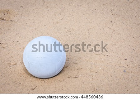 Beach volleyball on sand Background. - stock photo