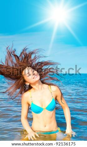 Beach Water Beauty - stock photo