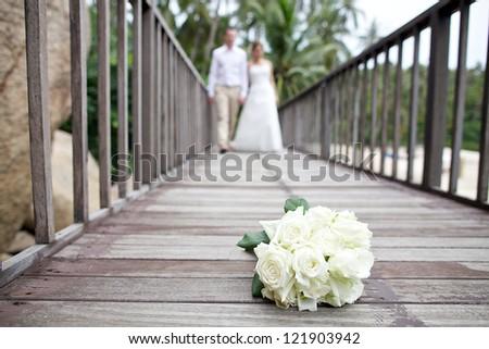 beach wedding - stock photo