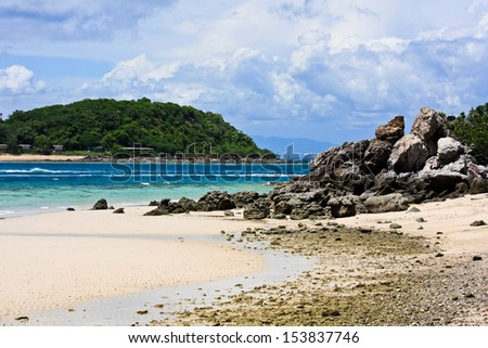 beach with blue  sky