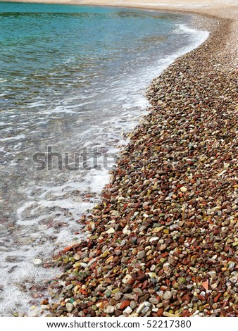 beach with pebbles - stock photo