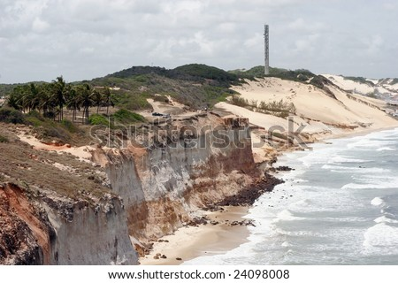 Beaches in the near of Natal - stock photo
