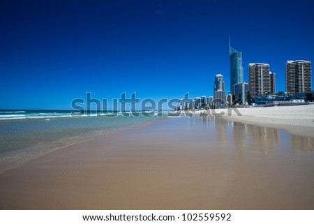 Beaches of the Gold Coast, Queensland, Australia - stock photo