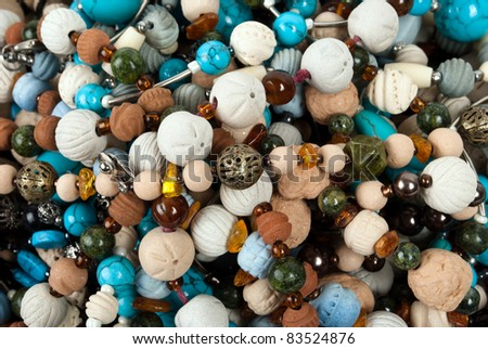beads - stock photo
