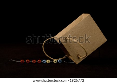 beads and paper bag - stock photo