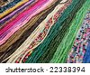 Beads from the natural painted grains - stock photo