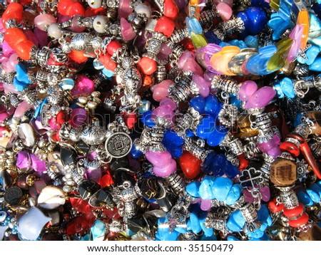 Beads jewelry - stock photo