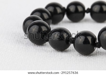 Beads jewelry - Stock Image macro.