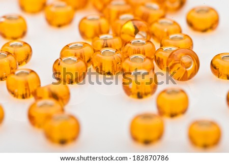 beads on white background - stock photo