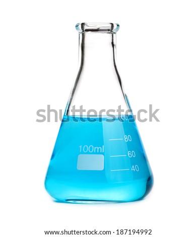 beaker isolated on white - stock photo