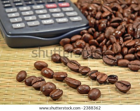 Bean Counter - accounting concept - stock photo