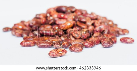 beans on white background