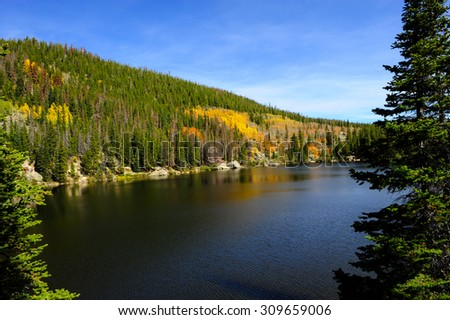 Bear Lake in fall at Rocky Mountain National Park, Colorado