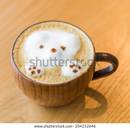 Bear Latte coffee