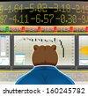 bear market currency exchange - stock photo