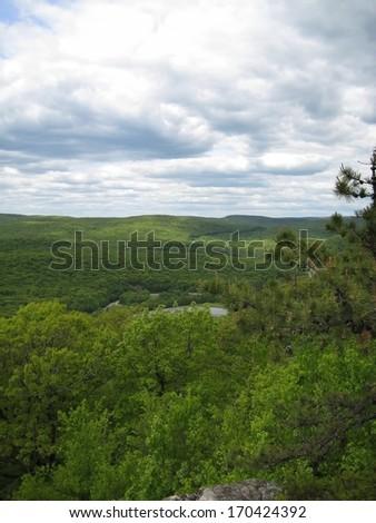 Bear Mountain along the Appalachian Trail in New York - stock photo