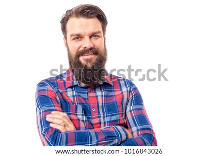 bearded man on white background