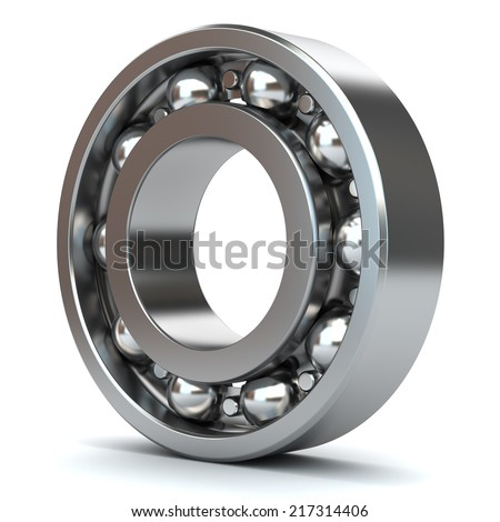 Bearings isolated on white background 3D