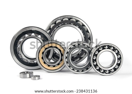 Bearings on a white background - stock photo