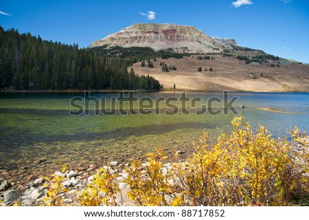 Beartooth Lake (close to Beartooth Highway) - stock photo