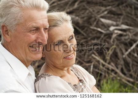 Beauteous elderly couple enjoying weekends spent together - stock photo