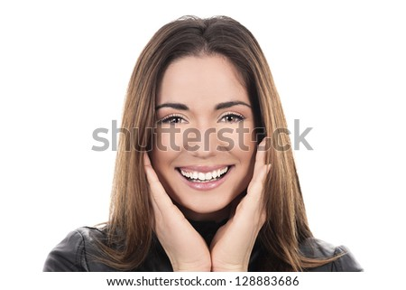 beautibul brown hair woman - stock photo