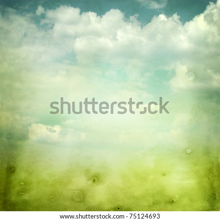 Beautiful abstract background with spring mood - stock photo