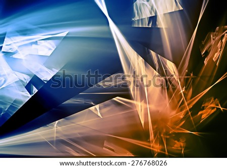 Beautiful abstract evening autumn background - stock photo
