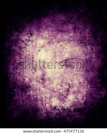 Beautiful abstract grunge vintage scratched texture background with frame and faded central area for your text or picture