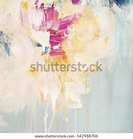 Beautiful abstract hand drawn background,floral