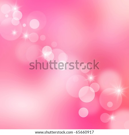 Beautiful abstract pink background of holiday lights - stock photo