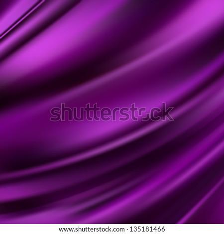Beautiful Abstract Purple Satin. Drapery Background - stock photo