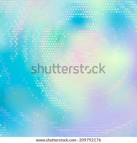 Beautiful abstract rotating swirl background. Mosaic square illustration. Fantasy pattern. - stock photo