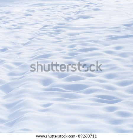Beautiful abstract snow background in mountains - stock photo