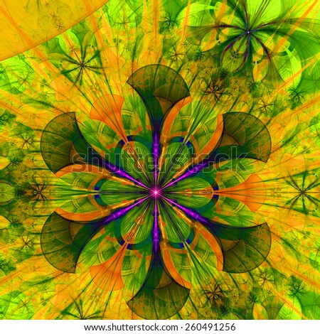 Beautiful flower pattern stainedglass window style beautiful abstract space flower with a second decorative flower in the upper right corner all voltagebd Gallery