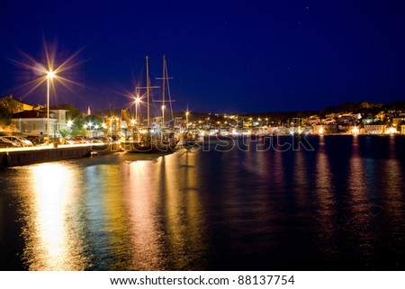 Beautiful adriatic Town of Mali losinj evening, Croatia