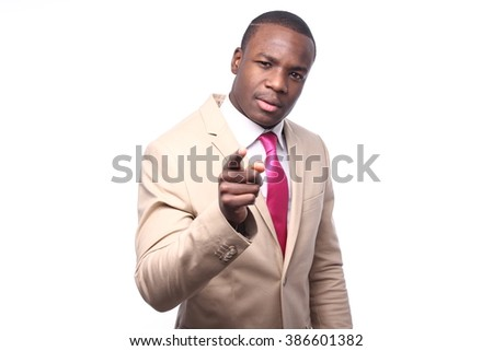 Beautiful african business man - stock photo