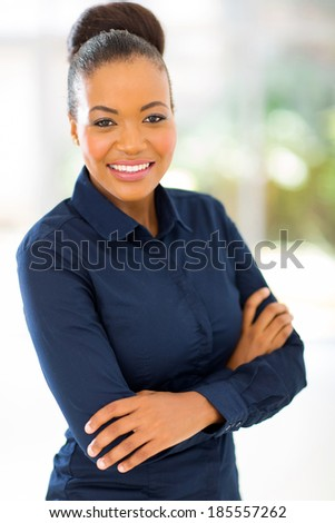 beautiful african businesswoman in modern office