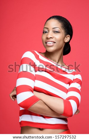 Beautiful African Fashion Model  - stock photo