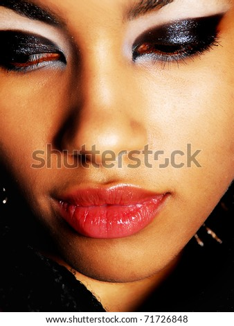 beautiful African woman - stock photo