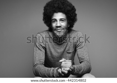Beautiful afro man posing