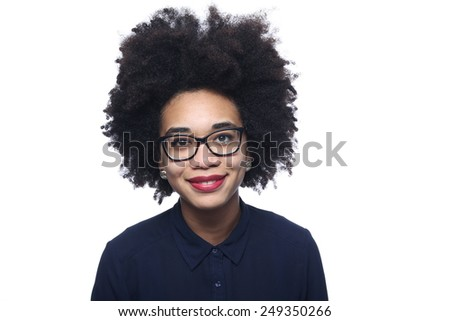 Beautiful afro woman - stock photo