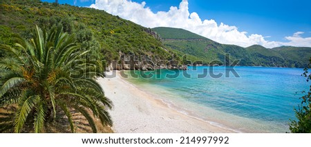 Beautiful Ag. Giannakis beach near Parga village, Greece. - stock photo