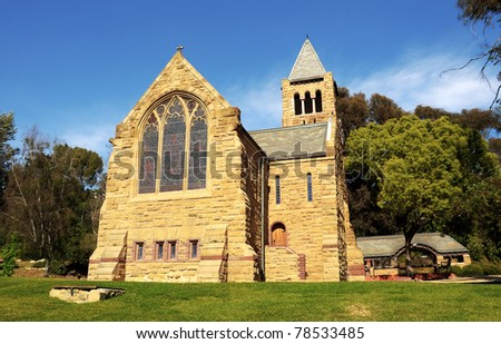 Beautiful All Saints church of Pasadena - stock photo