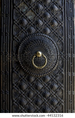 beautiful ancient door - stock photo