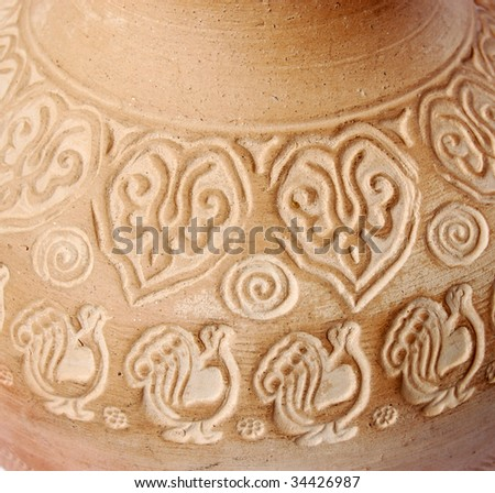 Beautiful ancient vase can be used as background - stock photo