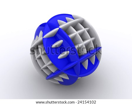 beautiful and bright abstract object on a white background - stock photo