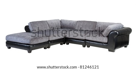 Beautiful and comfortable of the conner sofa - stock photo