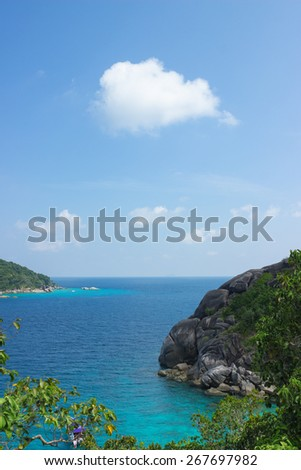 Beautiful and cosy Bay of the Andaman sea, Thailand - stock photo