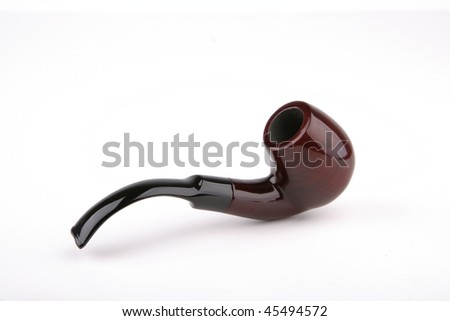 Beautiful and fine pipe made of heather wood.
